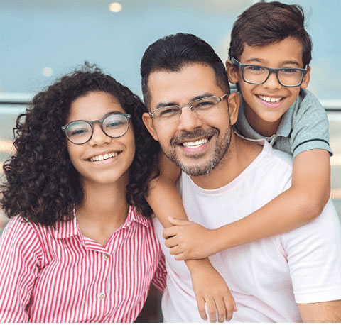 Stock image of family models giving a beautiful smile